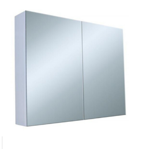 600mm PVC PENCIL EDGE, GLASS SHELVES Mirror Shaving Cabinet, Soft Close,