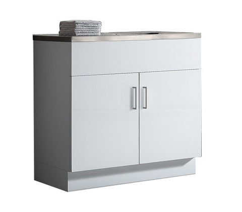 Kitchenette Gloss 900 x 460mm, Single Sink Top 1TH & Drainer