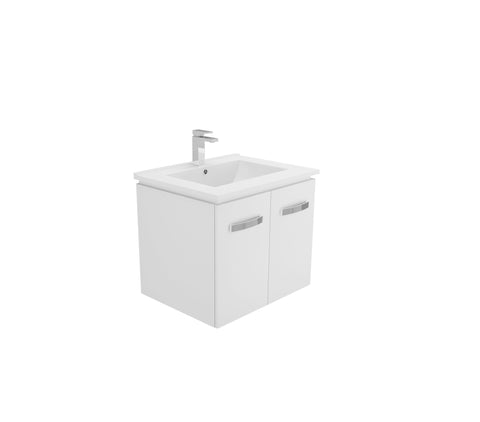 600 Wall Hung Quadra Vanity, Slimline Ceramic Top