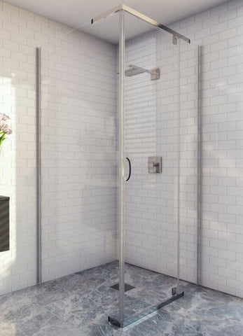 Semi-frameless CASCADE Shower Screen 1000 & 1000 x  2000H mm Square