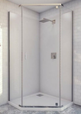 CASCADE Semi-Frameless Shower Screen ANGLED 940 x 940 x 2000H mm