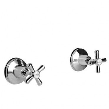 DALLAS Wall Stop Taps- Chrome or White