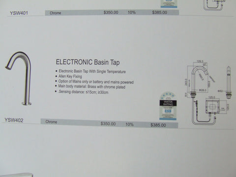 Electronic Basin Tap
