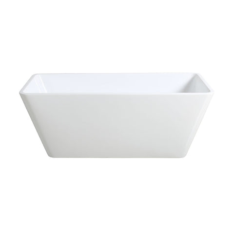 KLARA SLIMLINE 1700 Freestanding Square Bath - White