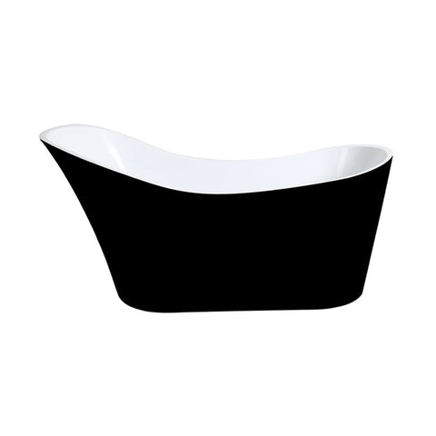 HI-BACK SLIMLINE 1700 Freestanding Luxury Bath - BLACK