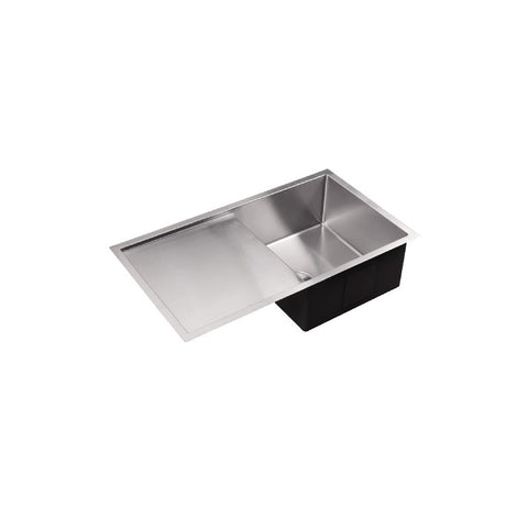 Single Bowl & Drainer 810 Under/Over/Flush Mount Stainless Steel Sink
