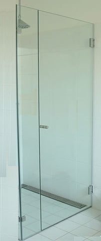FRAMELESS Wall-to-Wall Door & Hinge Panel 850-1000 x 2050H mm