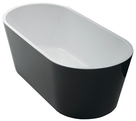 AKEMI BLACK  1500 Slimline Freestanding Luxury Bath