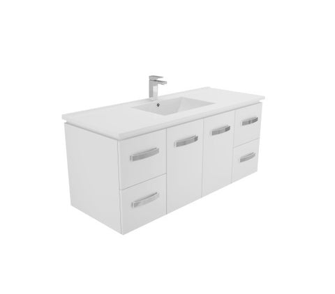 1200 Quadra WALL HUNG Vanity, Slimline Ceramic Top