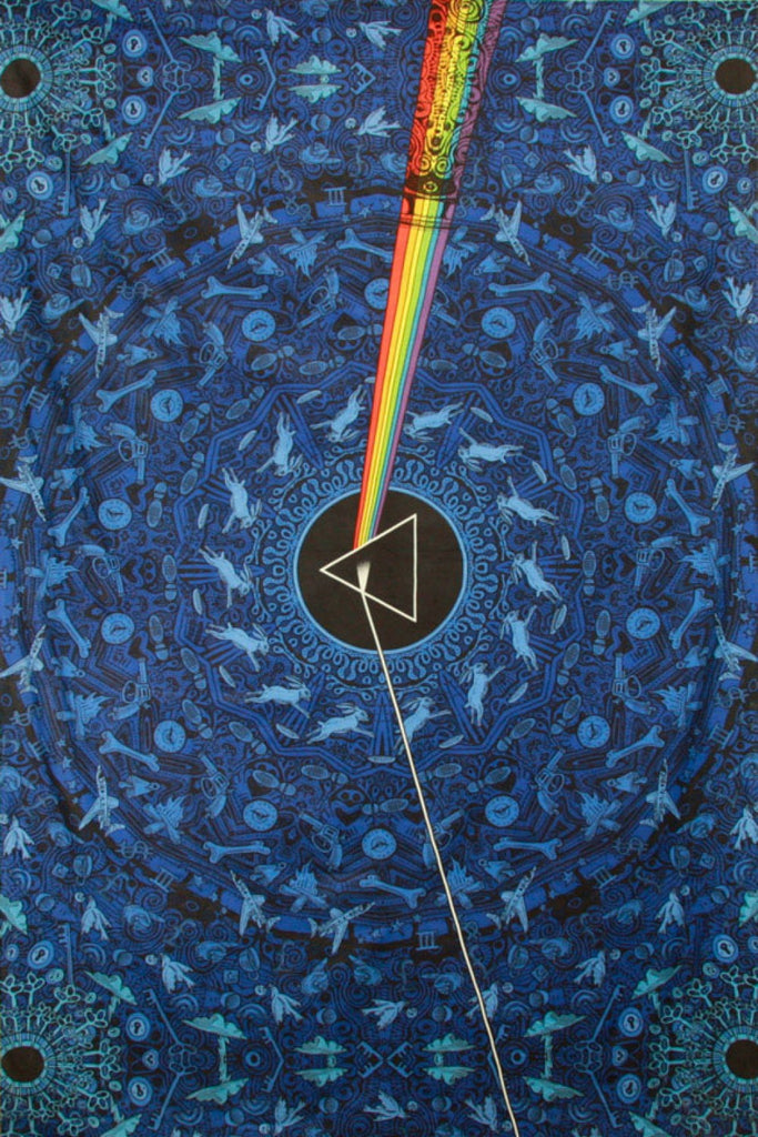 3D Pink Floyd Dark Side Lyrics Blue Tapestry 60x90