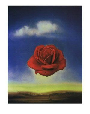 Salvador Dali - 'Meditative Rose' (11x14) - FAR00937