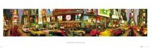 "New York City - Times Square"" (12 X 36)"