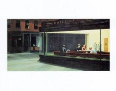 Edward Hopper - 'Nighthawks' (11x14) - FAR01194
