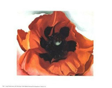"Georgia O'Keeffe - ""Poppy 1927"" (11 X 14) - FAR00313"