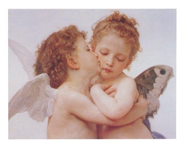 FAR90005 Bouguereau - 'The First Kiss' (23 X 31)