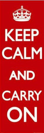 Keep Calm & Carry On (21x61) - ISP20071