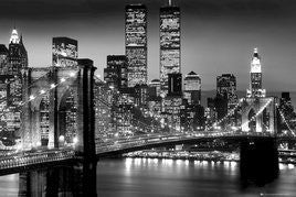 New York Night Skyline (B&W) (24x36)  - ARC32682