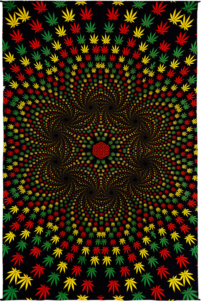 3D Weed Vortex Mini Tapestry