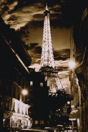 "Paris at Night - Eiffel Tower"" (24x36) - ARC00007"
