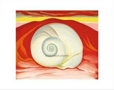 Georgia O'Keeffe - 'Red Hills and White Shell' (11x14) - FAR00323