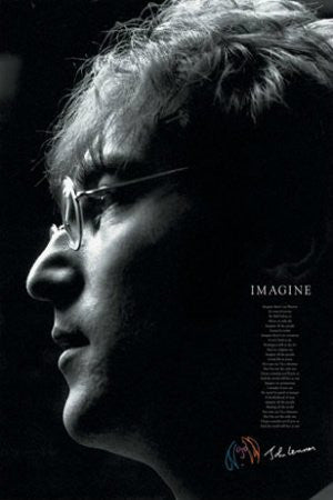 John Lennon - Imagine Lyrics (24x36) - MUS00817
