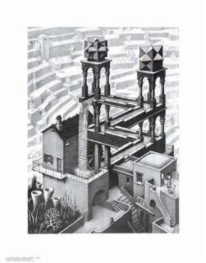"M. C. Escher - ""Waterfall"" (11x14) - BAW00015"