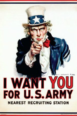 "Uncle Sam - ""I Want You"" (24x36) - ISP00025"""