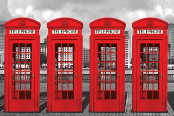 Red Telephone Boxes (24x36) - ARC32679