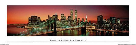 "NAT50001"" Brooklyn Bridge - New York City Skyline"" (12 X 36)"