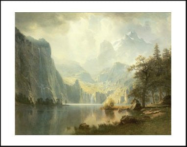 "FAR90071"" Albert Bierstadt - In the Mountains"" (11 X 14)"