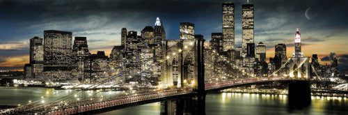 New York Night Skyline (21x62) - ARC32649