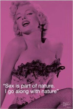 Marilyn Monroe - Sex Quote (24x36) - FAR10024