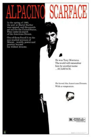 "FLM33077"" Scarface - Original Movie Score"" (40 X 60)"