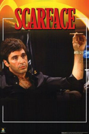 "FLM33069"" Scarface - 'Black Shirt w/ Cigarette"" (24 X 36)"