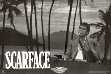 "FLM01014"" Scarface - 'Sunset (B&W)'"" (24 X 36)"