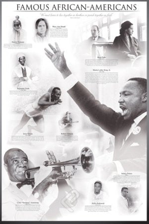 "ISP57010 ""Famous African-Americans - Famous African-Americans"" (24 x 36)"