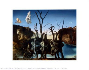 "FAR32440"" Salvador Dali - Swans Reflecting Elephants"" (11 X 14)"