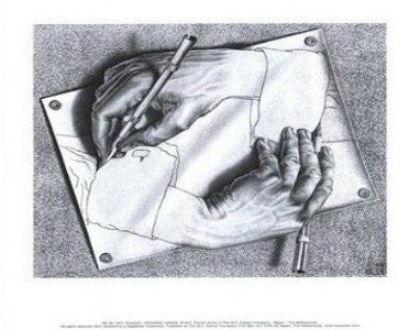 "M. C. Escher - ""Drawing Hands"" (11x14) - BAW00026"
