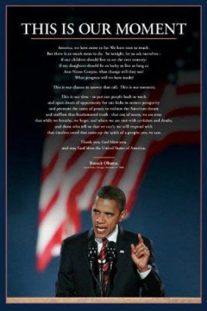 "ISP30935 ""Obama - This is our Moment"" (24 X 36)"