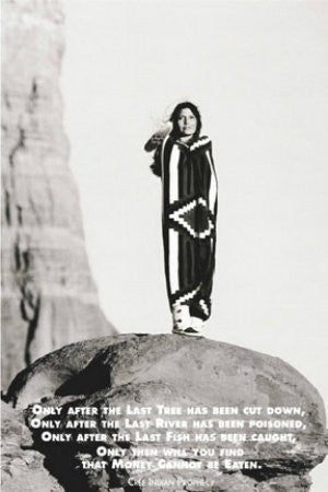 Indian Prophecy - Woman Squaw (24x36) - ISP00940