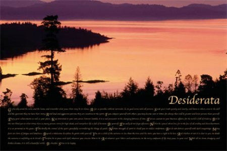 "ISP90003"" Desiderata - Sunrise"" (24 X 36)"