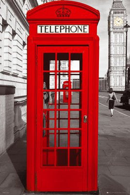 London Red Telephone Box (24x36) - ARC32669