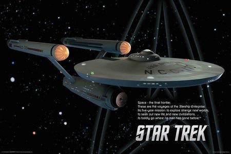 FLM70080 - Star Trek Ship 24x36