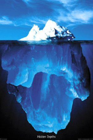 "NAT00021 ""Hidden Depths - Iceberg"" (24 X 36)"