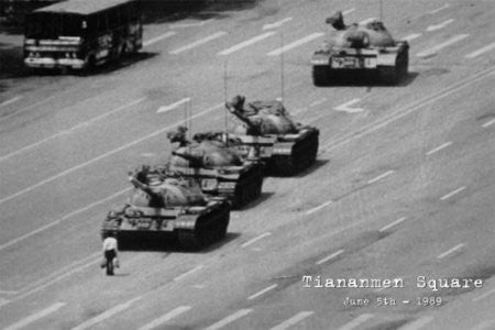 "NAT03000 ""Tiananmen Square - Tanks"" (24 X 36)"