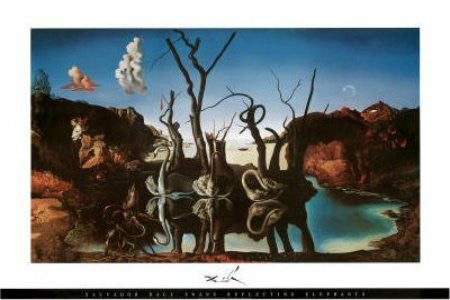 Salvador Dali - 'Swans Reflecting Elephants' (24x36) - FAR44118