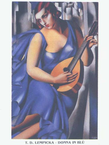 FAR32016 De Lempicka, T. - 'Woman in Blue' (23 X 31)