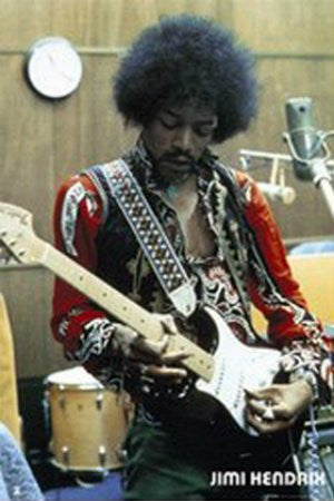 Jimi Hendrix in the Studio (24x36) - MUS00982
