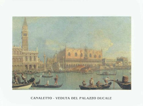 FAR32370 Canaletto - 'View of the Ducal Palace' (20 X 28)