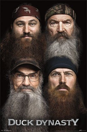 FLM91022 Duck Dynasty Beards 24x36